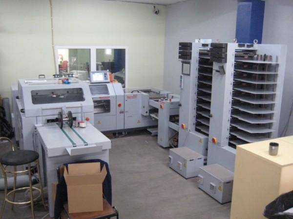 Trükitööstuse sorteerimis- ja voltimisliin